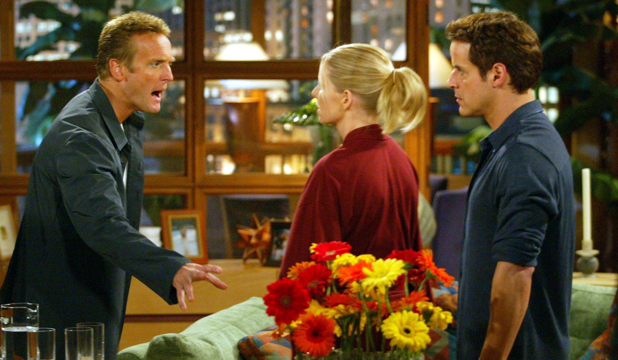 "Lauralee Bell, Christian LeBlanc and Doug Davidson ""The Young and the Restless"" Set CBS Television City 7/14/03 ©Aaron Montgomery/JPI 310-657-9661 Episode# 7694"