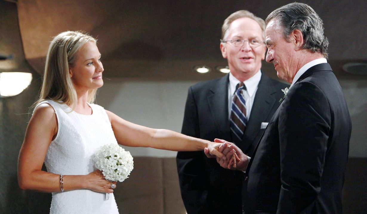 """Sharon Case, Eric Braeden """"The Young and the Restless"""" sharon victor wedding hw"""