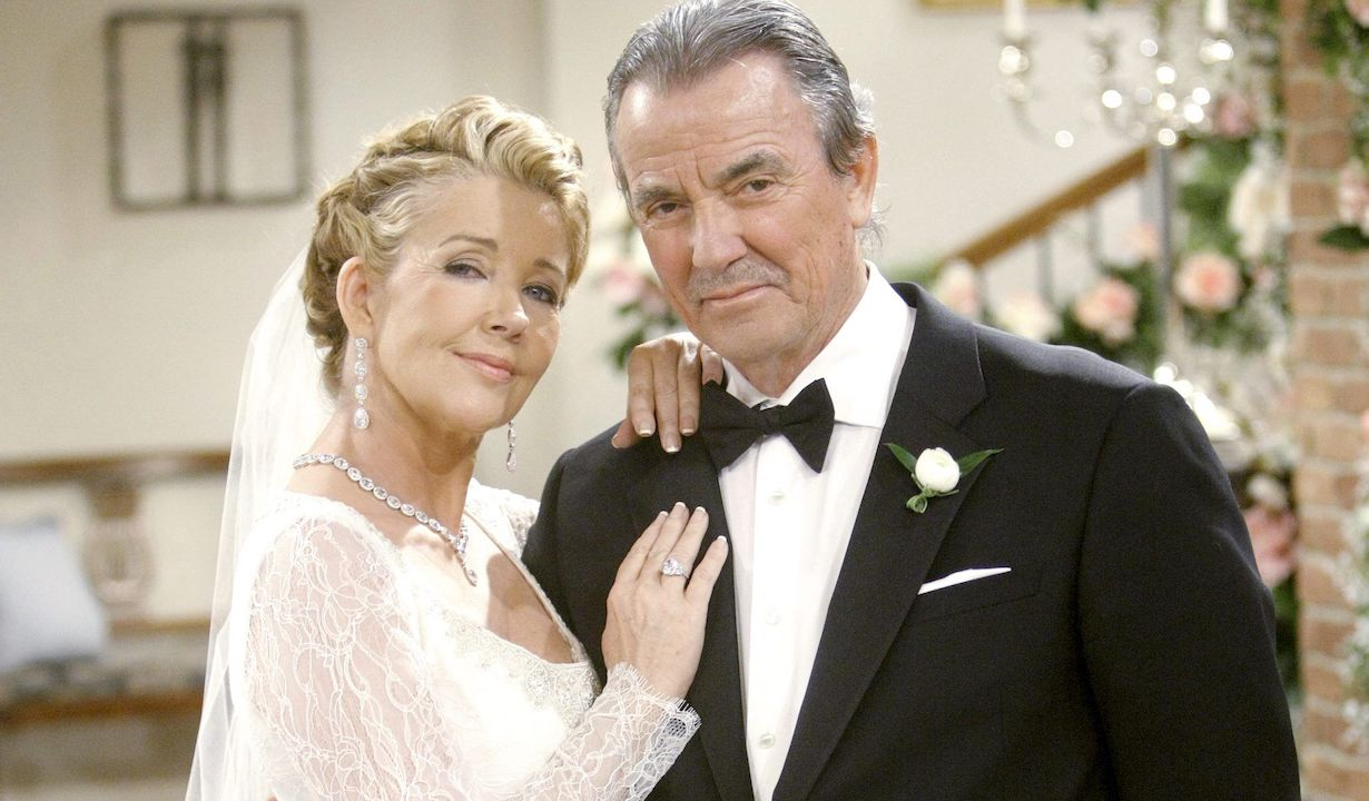 """""""The Young and the Restless"""" Set Melody Thomas Scott, Eric Braeden victor nikki wedding"""