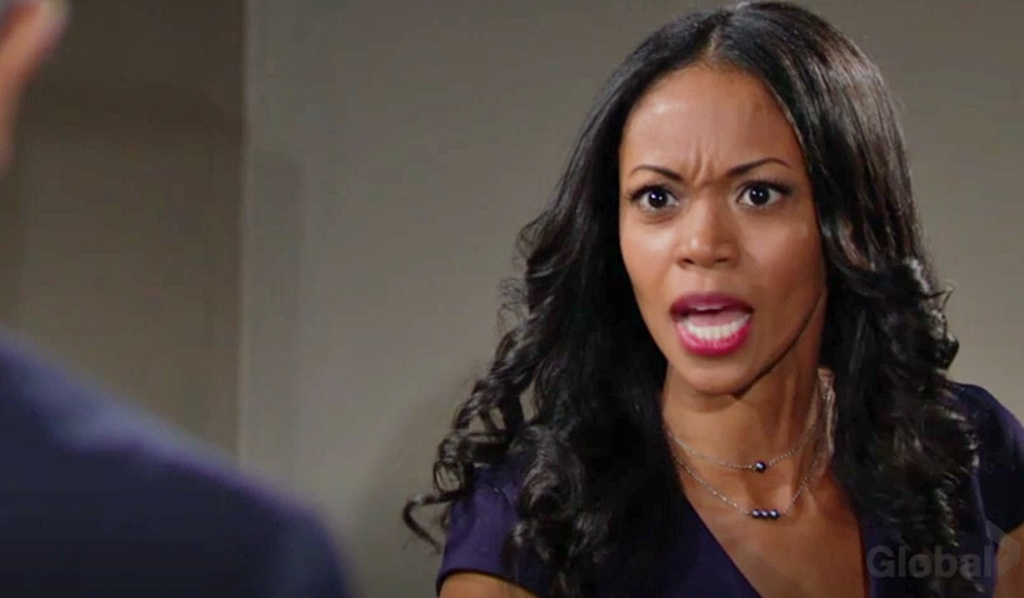 Amanda angry at Sutton Y&R