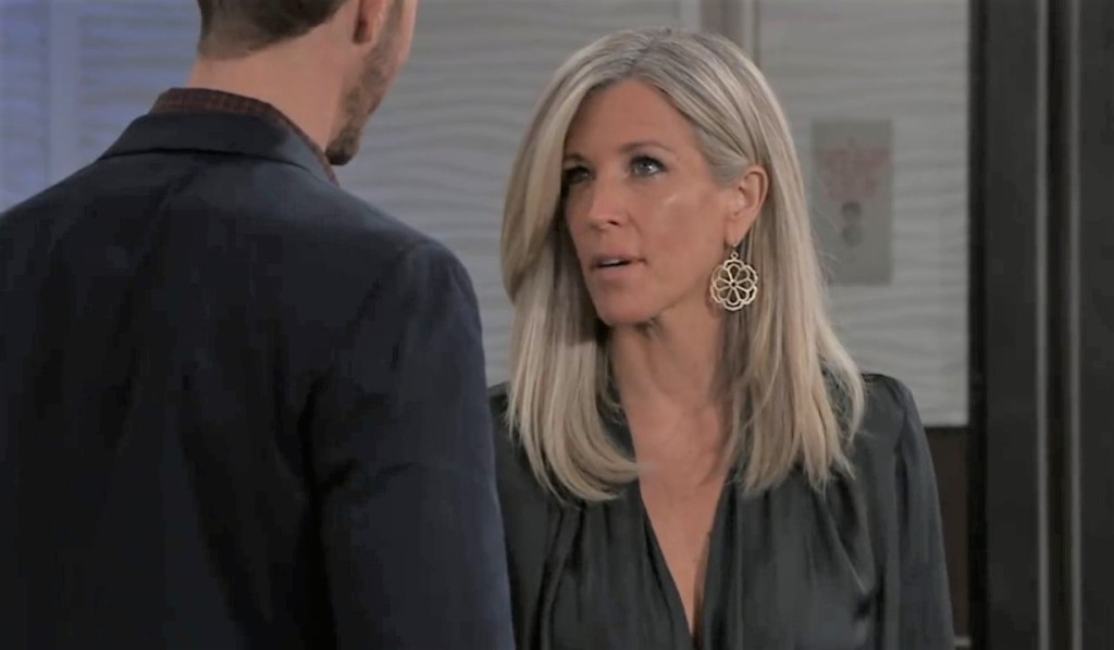 Carly argues with Peter at Metro Court General Hospital