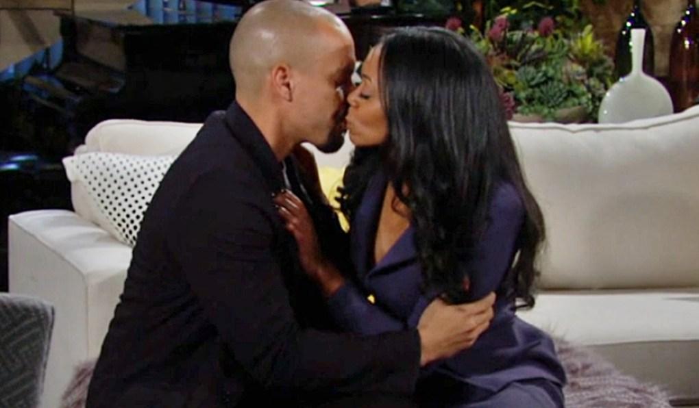 Devon, Amanda kiss Y&R