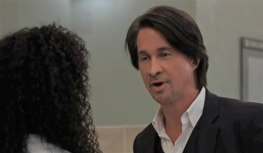 Finn asks Portia to hurry tests at General Hospital