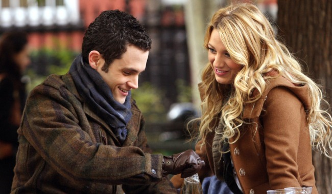 GOSSIP GIRL, Penn Badgley, Blake Lively, 'The Thin Line Between Chuck and Nate', (Season 1, ep. 113, aired Jan. 19, 2008), 2007-. photo: Eric Liebowitz / © The CW / Courtesy Everett Collection