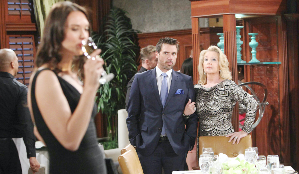 """Joshua Morrow, Melody Thomas Scott""""The Young and the Restless"""" Set CBS television CityLos Angeles04/14/18© Howard Wise/jpistudios.com310-657-9661Episode # 11433U.S. Airdate 05/18/18"""