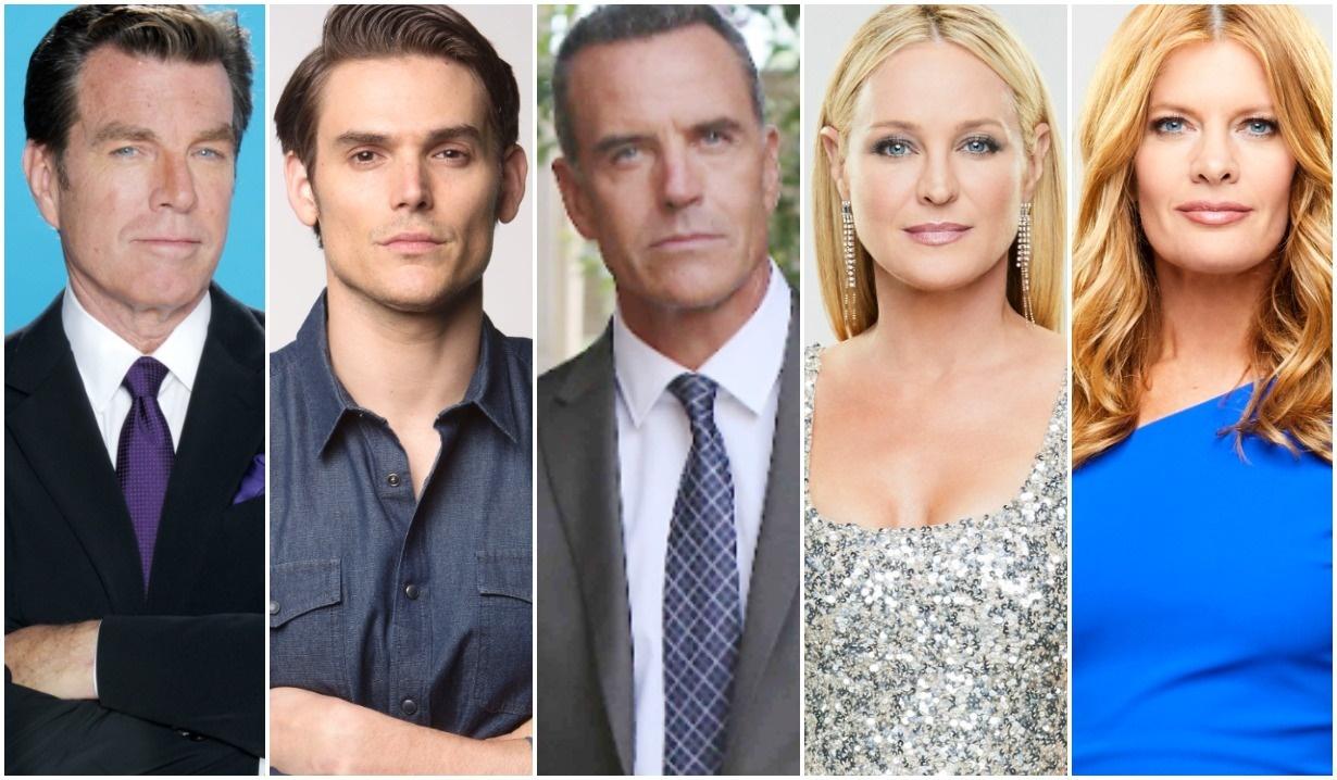 Jack, Phyllis, Sharon, Ashland, Adam collage Y&R