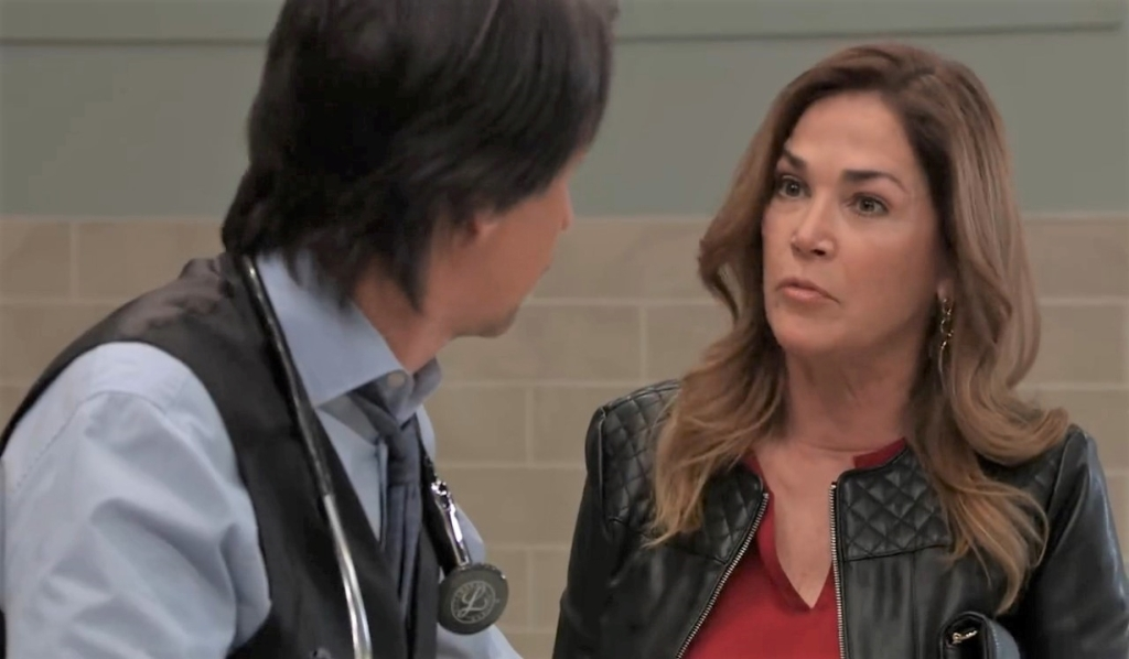 Jackie tells Finn they have unfinished business at General Hospital