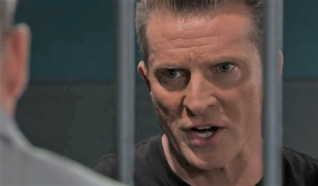Jason tells Scott he's innocent in cells General Hospital