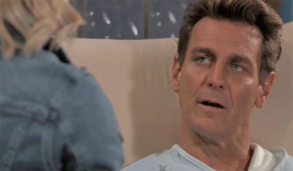Jax asks Nina if she will return at clinic General Hospital