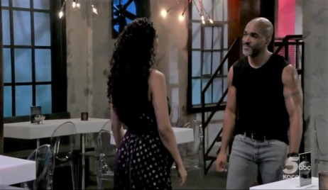 Jordan and Curtis talk about their relationship at club General Hospital