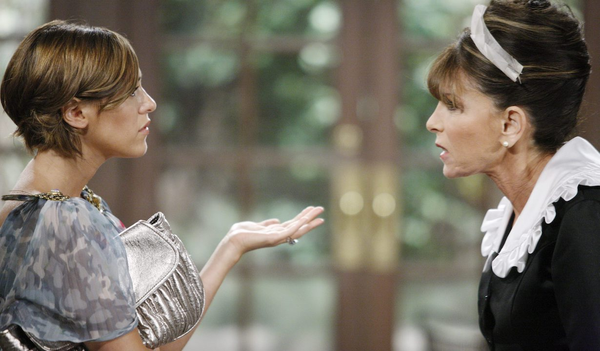 "Kate Linder, Elizabeth Hendrickson ""The Young and the Restless"" Set CBS Television City Los Angeles 8/11/08 ©sean smith/jpistudios.com 310-657-9661 Episode # 8973 U.S. Airdate 9/4/08"