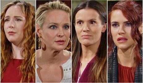 Mariah, Sharon, Chelsea, Sally Y&R