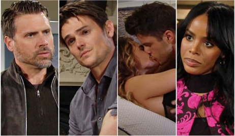 Nick, Adam, Summer, Kyle, Imani collage Y&R