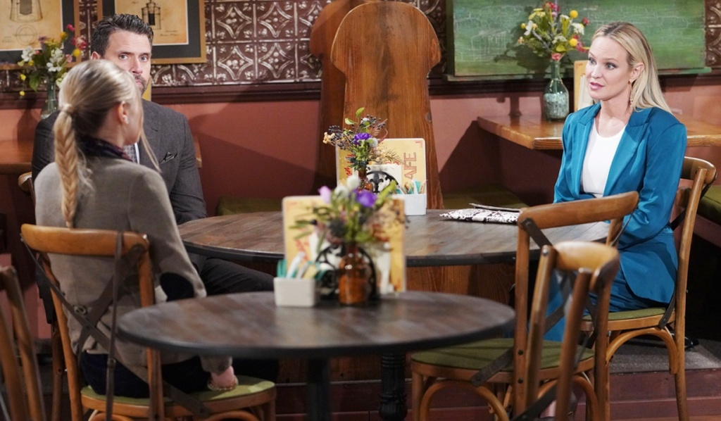 Faith, Nick, Sharon after court Y&R