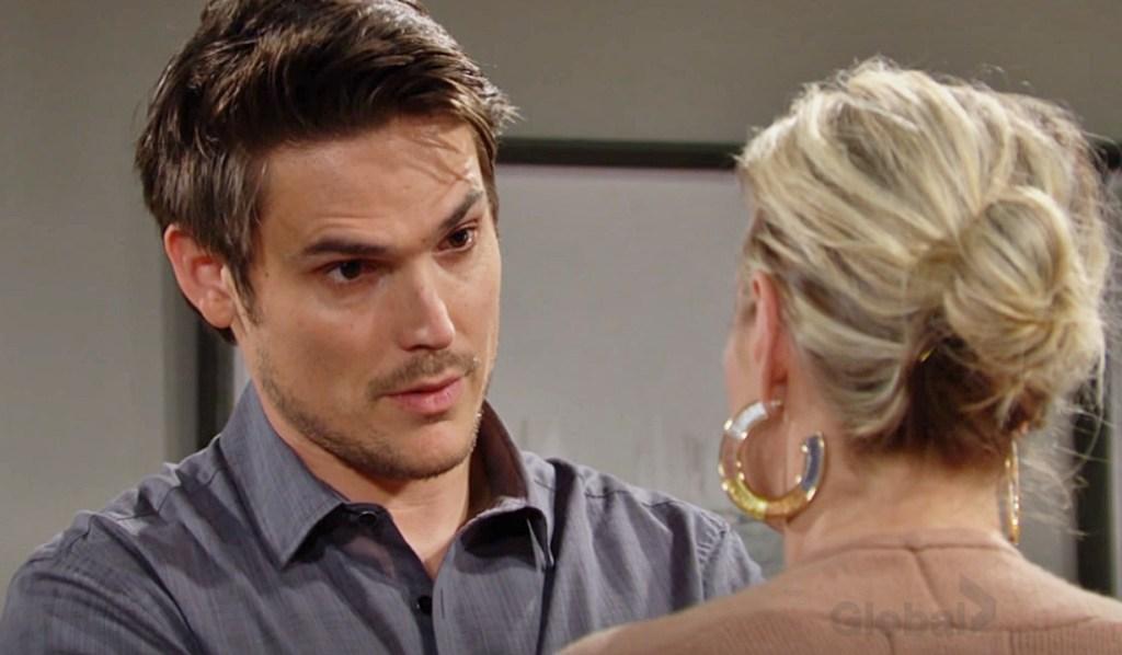 Sharon, Adam discuss kiss Y&R