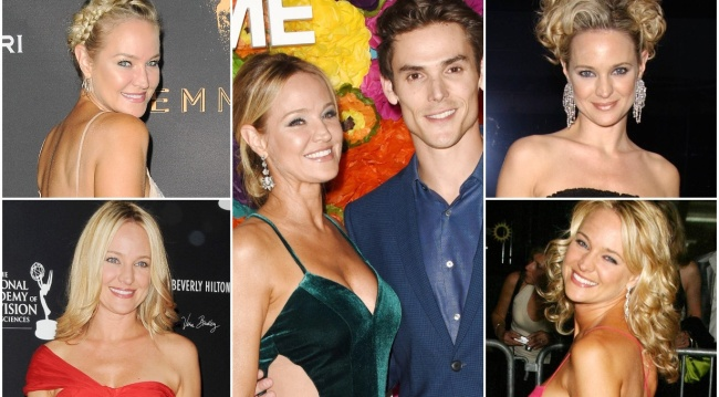 Sharon Case red carpet collage with Mark Grossman Y&R