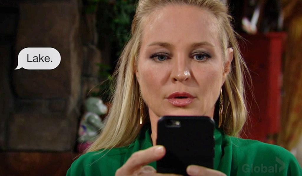 Sharon text Adam Y&R