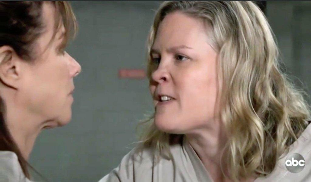 Hilda threatens Alexis GH