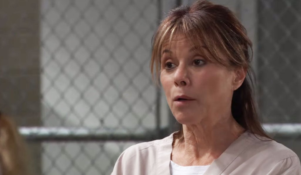 alexis is confronted in prison gh