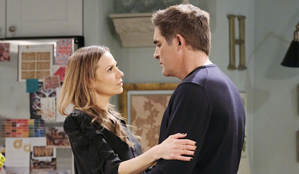 Ava and Rafe look into each other's eyes on Days of Our Lives