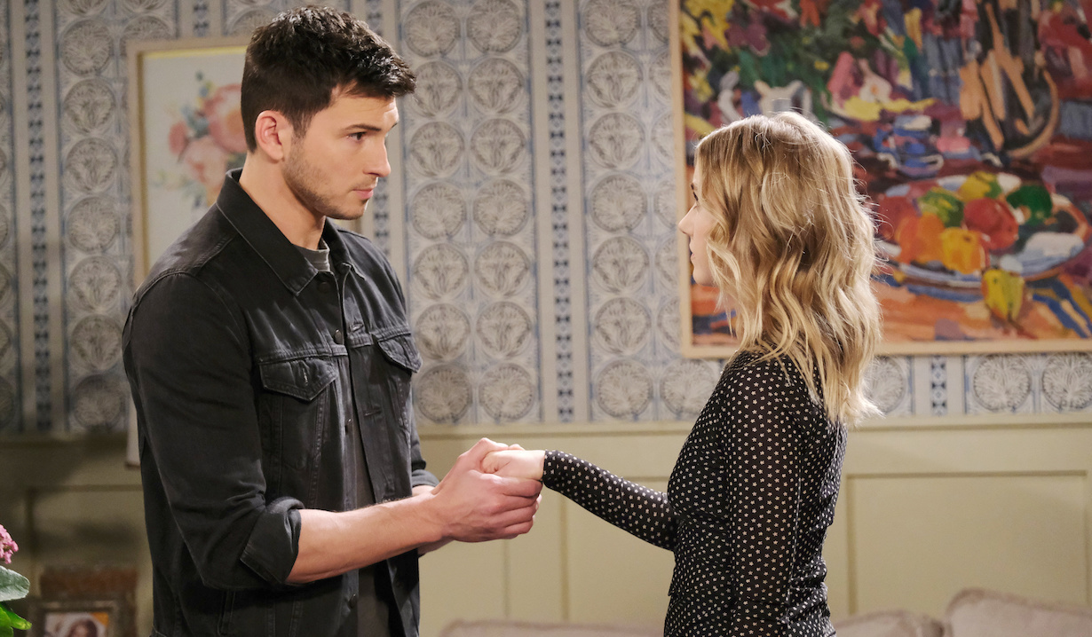 Ben grasps Claire's hand on Days of Our Lives