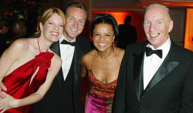 """Michelle Stafford, Doug Davidson, Victoria Rowell, and Bill Bell""""Young & Restless"""" 30th Anniversary Party Beverly Hills Hotel 3/29/03 ©Jesse Grant/JPI 310-657-9661"""