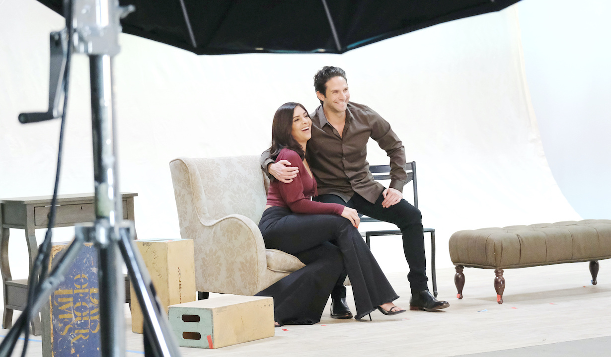 "Camila Banus, Brandon Barash ""Days of our Lives"" Set Behind the Scenes of Cast Photoshoot NBC Studios Burbank 10/07/20 © XJJohnson/jpistudios.com 310-657-9661"