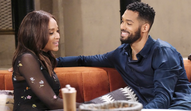 Eli and Lani enjoy a light moment at home on Days of Our Lives
