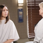 Gwen is examined by Kayla at the hospital on Days of Our Lives