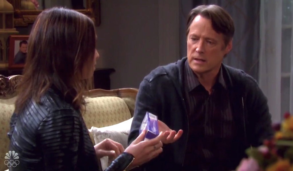 Jack looks at Gwen's pregnancy test box on Days of Our Lives