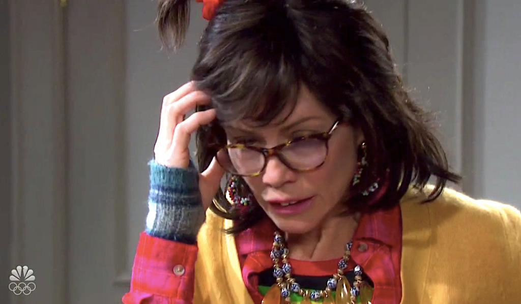 Kristen, as Susan, panics on Days of Our Lives