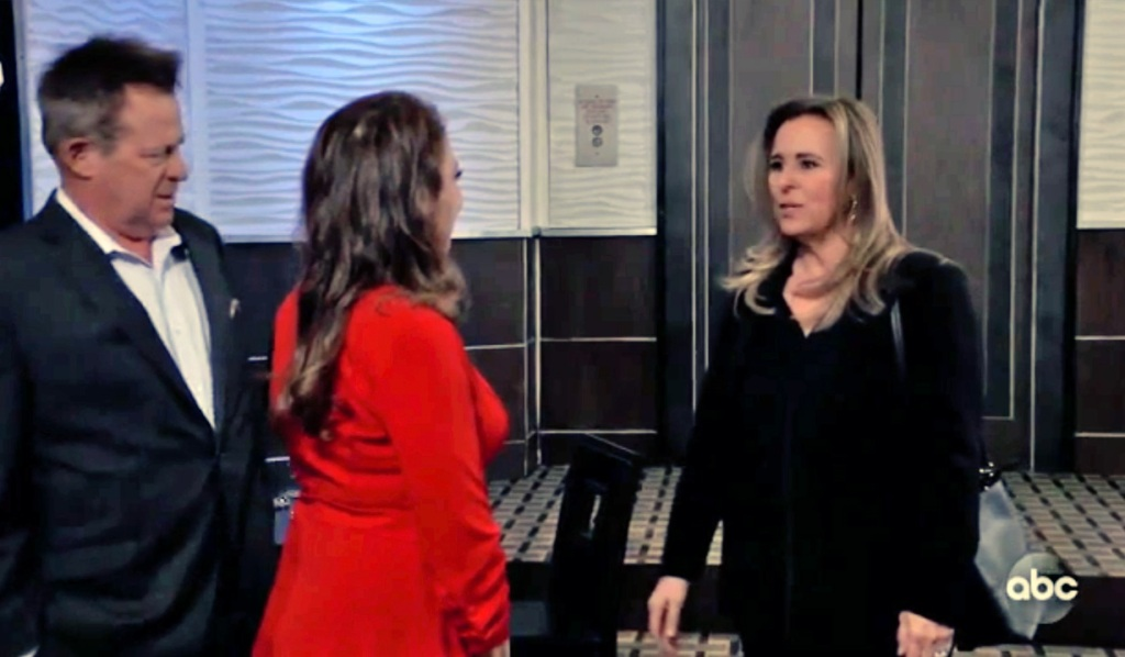 Laura shocked by Scott and Obrecht GH