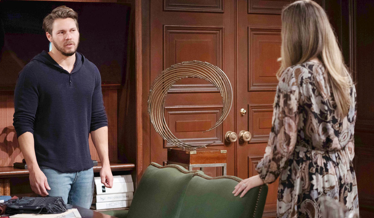 liam talks to hope at forrester creations bb