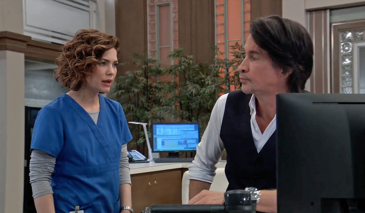 Liz grills Finn about Chase GH