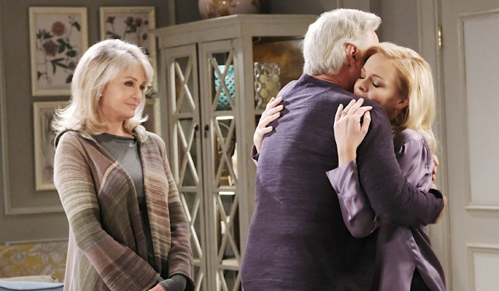 Marlena watches John hug Belle on Days of Our Lives