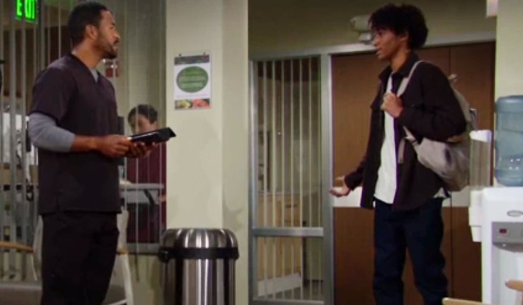 moses asks nate about faith Y&R
