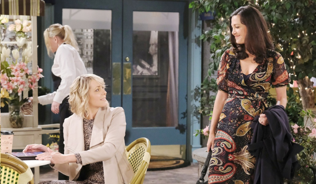 Nicole encounters Jan in the Square on Days of Our Lives