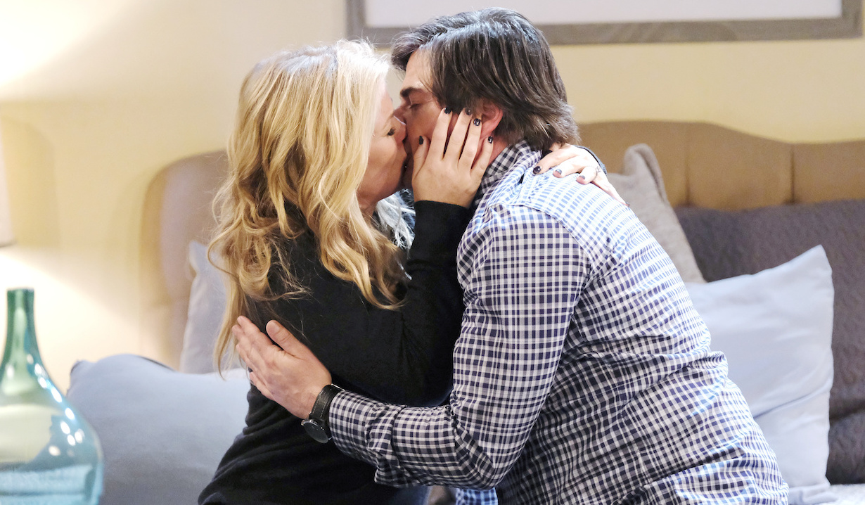 Sami and Lucas kiss on Days of Our Lives