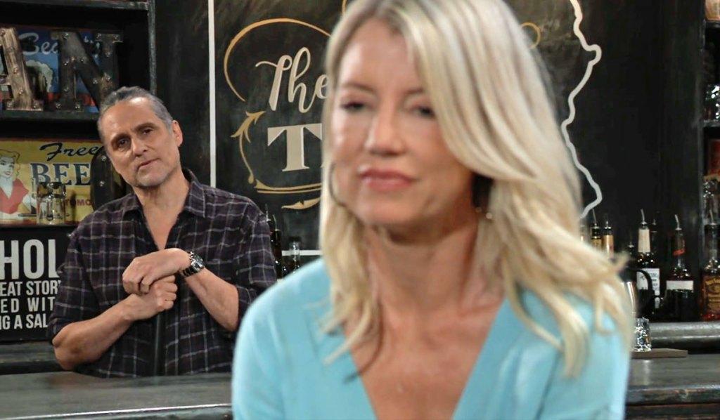 Sonny curious about Nina GH