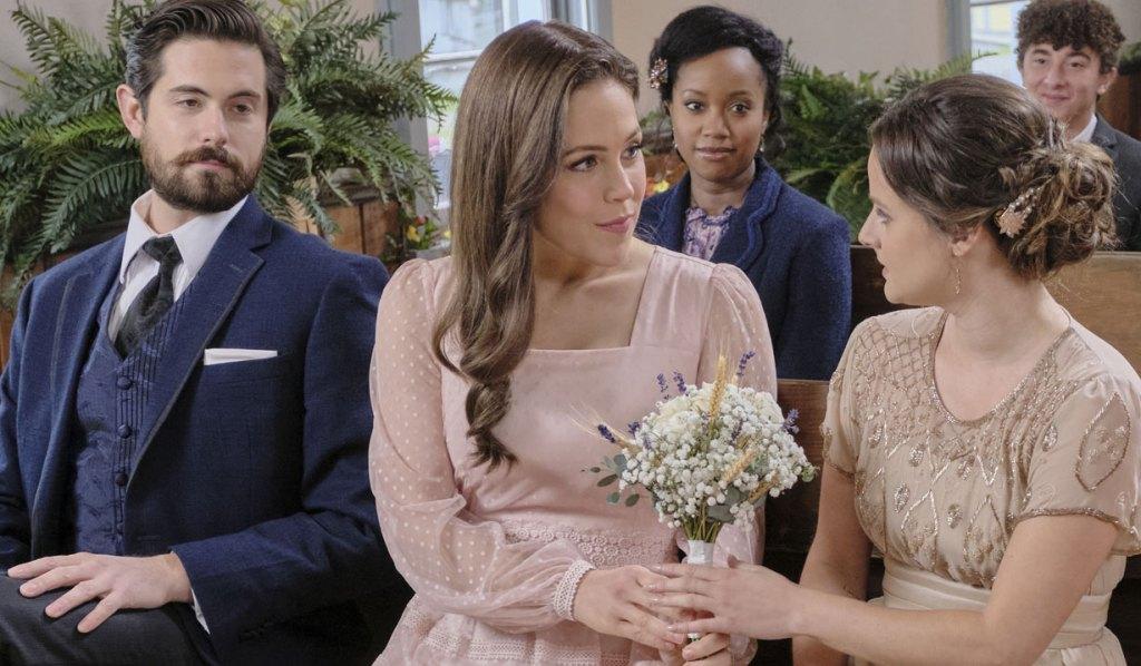When Calls the Heart: Elizabeth and Lucas at wedding Hallmark