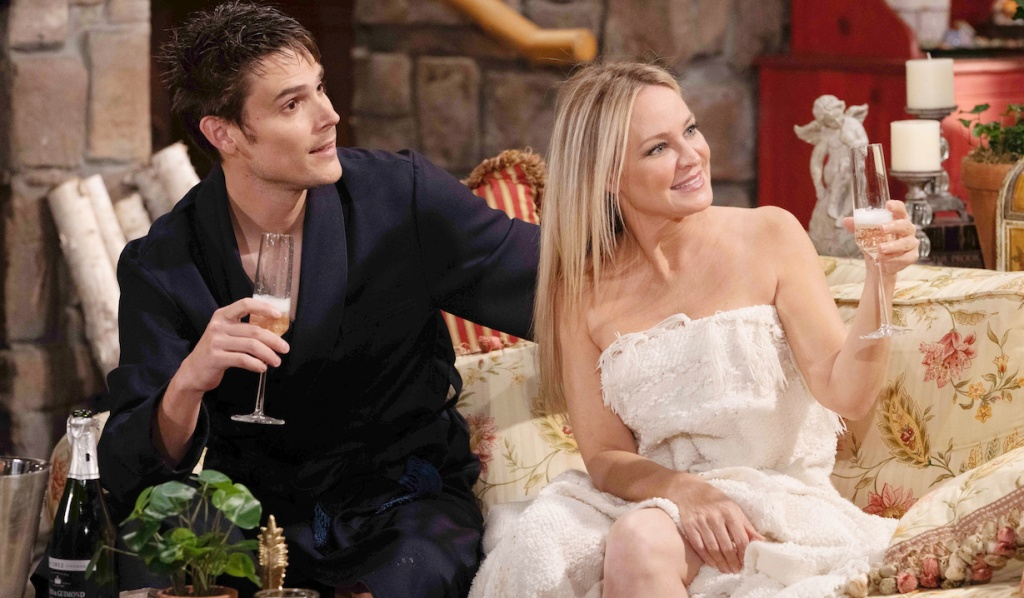 "adam sharon champagne Sharon Case, Mark Grossman""The Young and the Restless"" Set CBS television CityLos Angeles01/06/21© Howard Wise/jpistudios.com310-657-9661Episode # 12036U.S. Airdate 01/22/21"