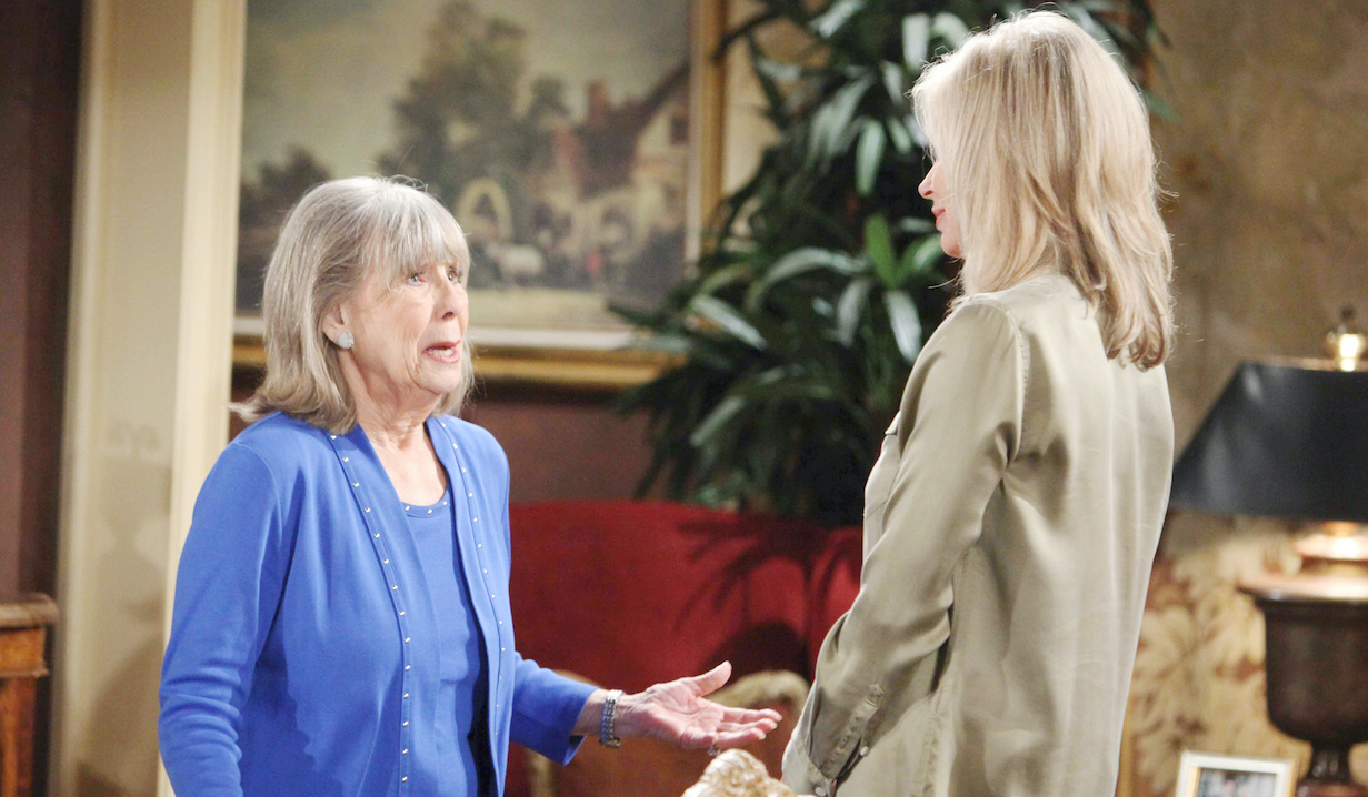 """Eileen Davidson, Marla Adams """"The Young and the Restless"""" Set CBS television City Los Angeles 04/11/18 © Howard Wise/jpistudios.com 310-657-9661 Episode # 11431 U.S. Airdate 05/16/18"""