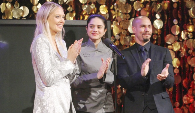 """Sasha Calle, Bryton James, Melissa Ordway """"The Young and the Restless"""" Set CBS television City Los Angeles 03/19/19 © Howard Wise/jpistudios.com 310-657-9661 Episode # 11668 U.S. Airdate 04/09/19"""