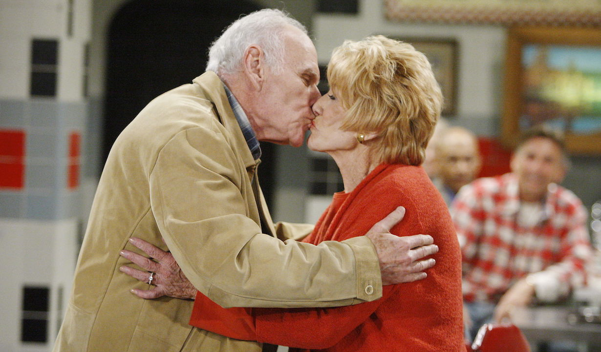 "murphy katherine kiss Michael Fairman, Jeanne Cooper""The Young and the Restless"" SetCBS Televison CityLos Angeles2/23/09©sean smith/jpistudios.com310-657-9661Episode # 9110U.S. Airdate 3/26/09"