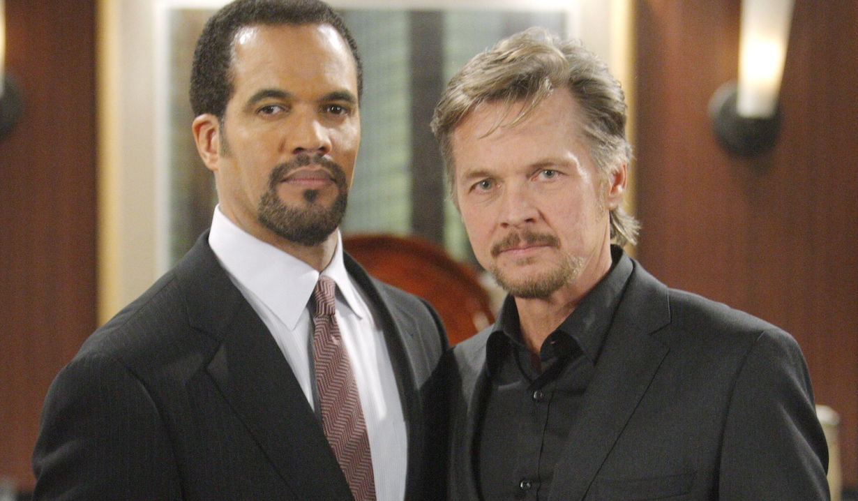 "tucker neil Stephen Nichols, Kristoff St John""The Young and the Restless"" SetCBS television CityLos Angeles12/17/09©sean smith/jpistudios.com310-657-9661"