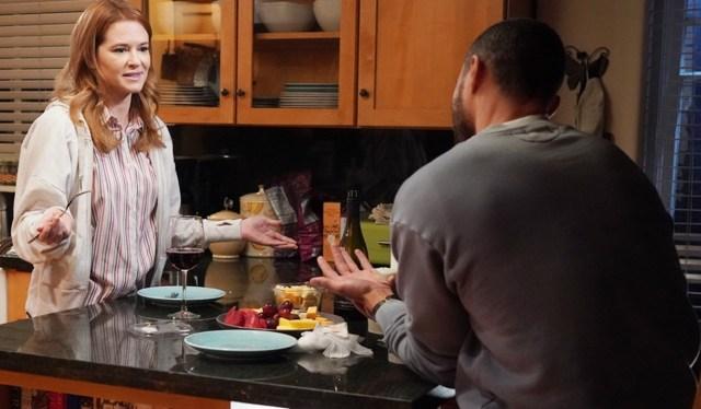 April and Jackson talking kitchen Grey's Anatomy