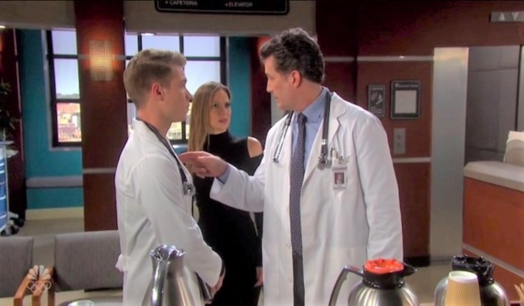 Ava catches Snyder lecturing Tripp at hospital Days of our Lives