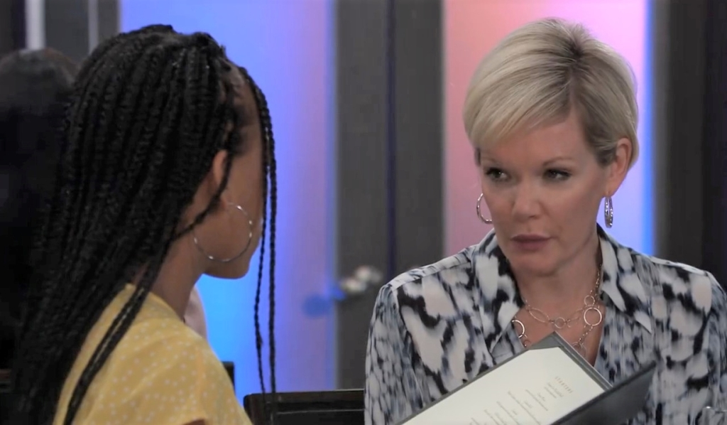 Ava and Trina talks Curtis at Metro Court General Hospital