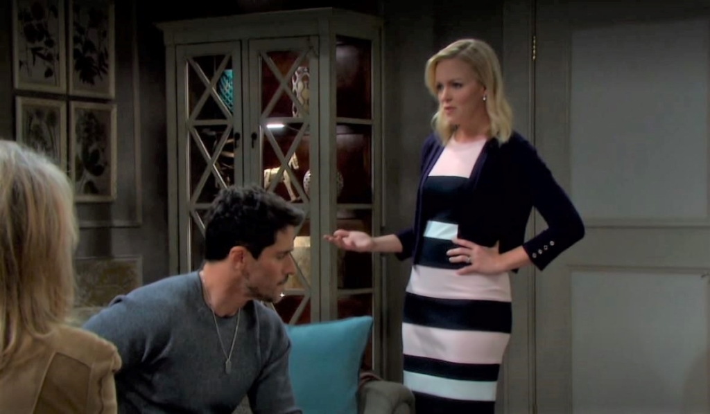 Belle tells Marlena and Shawn suspicions penthouse Days of our Lives