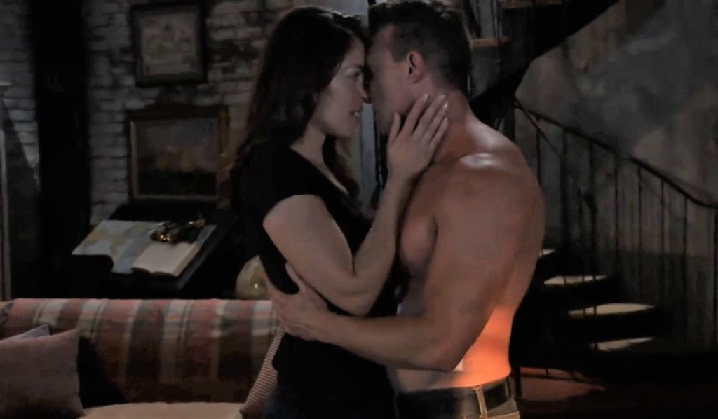 Jason and Britt have sex in cabin General Hospital